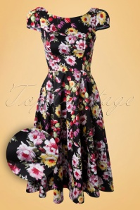 Hearts and Roses Black Floral Swing Dress 102 14 14735 20141220 015vv
