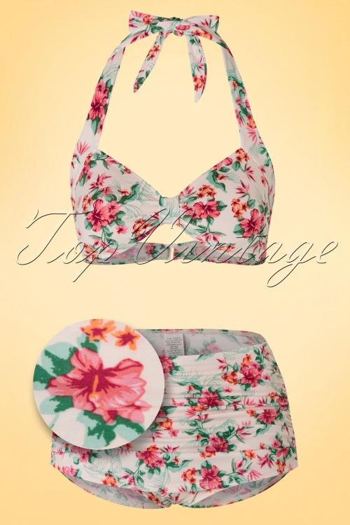 Bettie Page Swimwear Romance Bikini Top Flowers 160 59 17577 20160217 0002set b