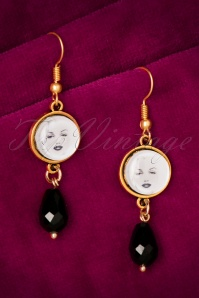 Marilyn Crystal Gold Plated Drop Earrings Années 50