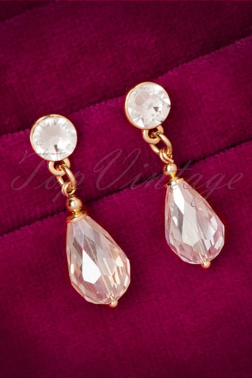 Marilyns Sparkle Gold Swarovski Crystal Earrings 334 98 20532 11032016 008W