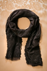 30s Rhinna Lace Scarf in Black