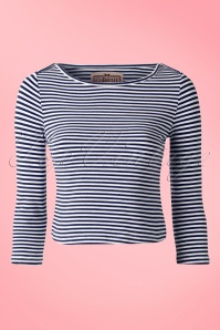 Collectif Clothing Martina Red Striped Top 111 27 14725 20150204 0002W