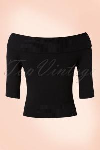 Collectif Clothing Bridgette Knitted Shirt black 113 10 14776 20150528 015kb