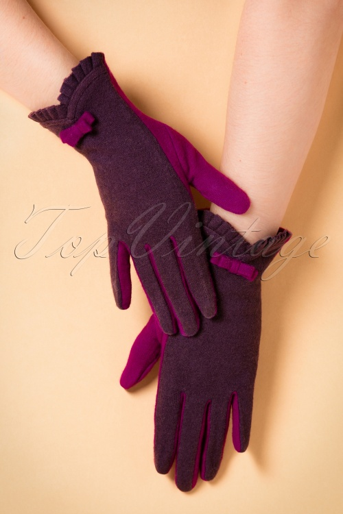 Powder Katharine Aubergine Gloves 250 60 20541 11142016 005W