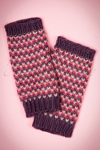 60s Pitlochry Arm Warmers in Purple and Pink