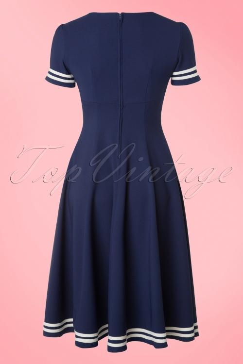50s Ambleside Swing Dress in Navy