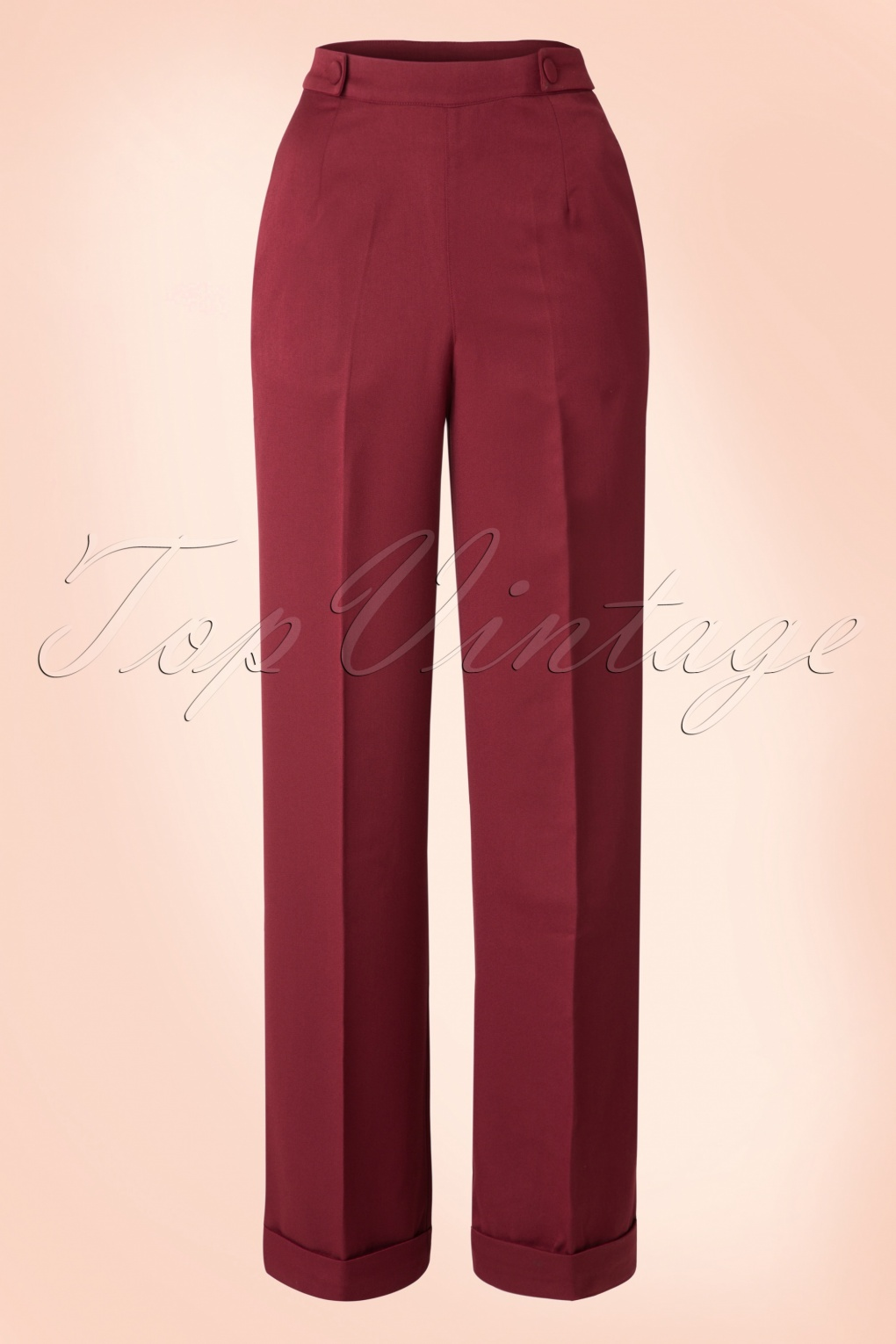 1940s Swing Pants & Sailor Trousers- Wide Leg, High Waist 40s Party On Classy Trousers in Bordeaux £35.51 AT vintagedancer.com