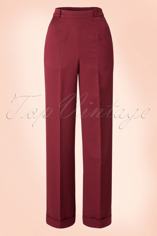 Banned Party on Trousers Bordeaux Red 131 20 16388 20150814 027W