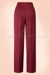 Banned Party on Trousers Bordeaux Red 131 20 16388 20150814 023W