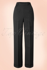 Party On Classy Trousers Années 40 en Noir