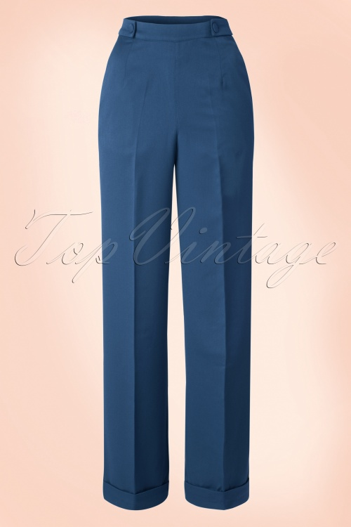 Banned Party on Trousers Blue 131 20 16372 20150814 014W