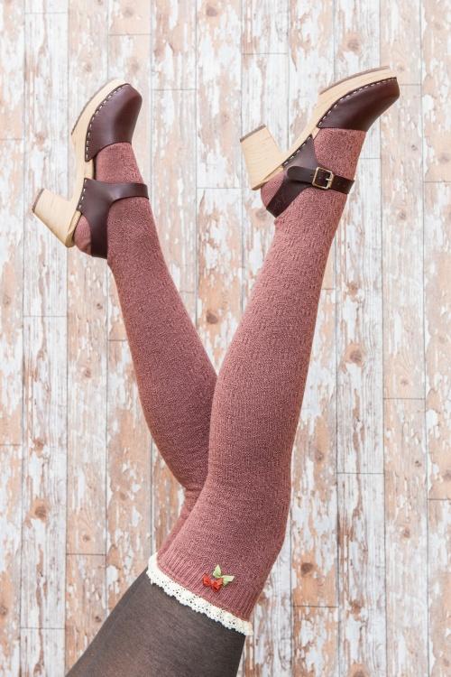 Powder Long Lace Soft Pink Tops Socks 179 22 20534 11142016 model01