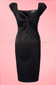 Collectif Clothing Dolores Black Pencil Dress 10248 1W