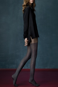 Fiorella Grey Cat Melange Tights 171 19 20546 model01