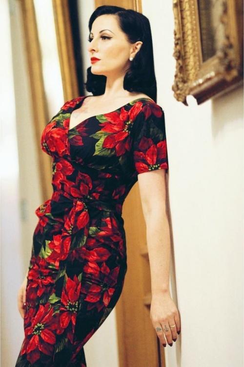 Victory Parade Rita Capsleeve Flower Dress 100 14 20047 20161102 01