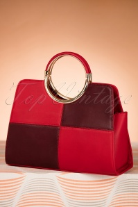 La Parisienne Red and Purple Handbag 212 20 20565 11152016 014W