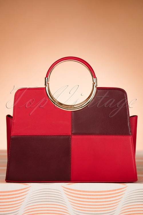 La Parisienne Red and Purple Handbag 212 20 20565 11152016 008W