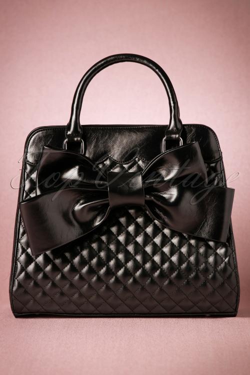 Vixen Black Big Bow Bag 212 10 20584 11212016 011W