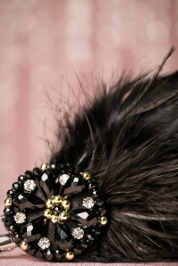 ZaZoo Black Feather Hairclip 201 10 20562 11212016 031