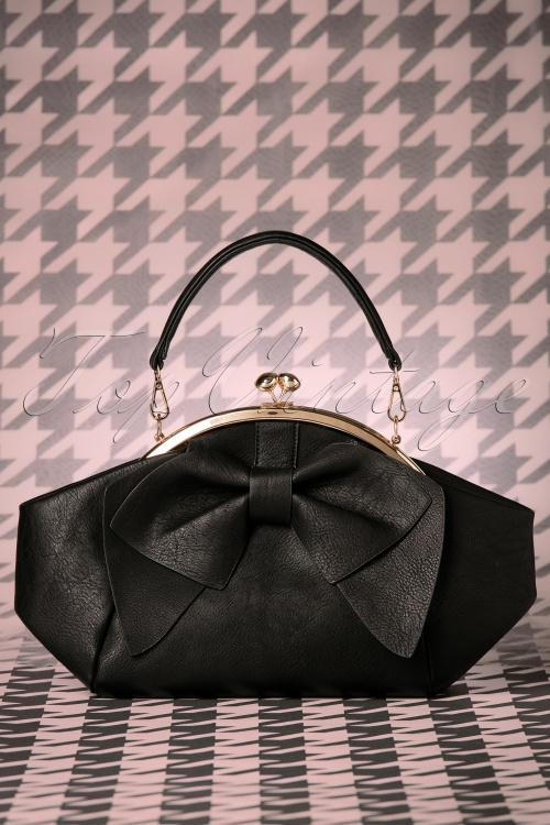 La Parisienne Black Bow Handbag 212 10 20586 11212016 002W