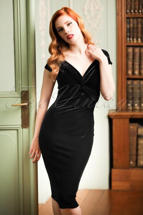 Vintage Chic Twist Bust Purple Velvet Dress 100 60 19633 20160928 007cw