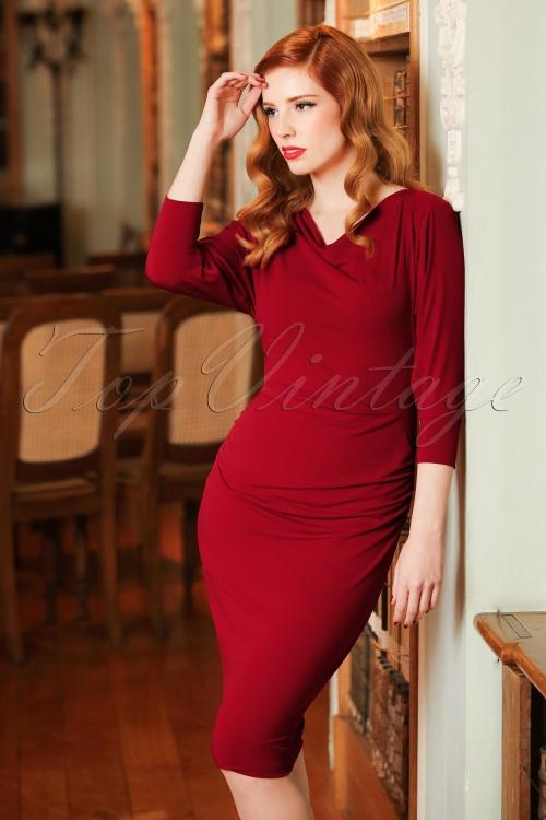 Zoe Vine 50s Marilyn Red Batwing Dress 100 20 19067 20160907 0011cw
