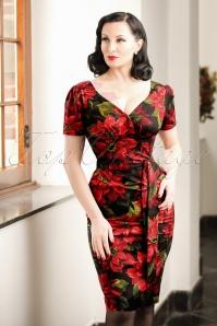 Victory Parade Rita Capsleeve Flower Dress 100 14 20047 20161102 0012cw