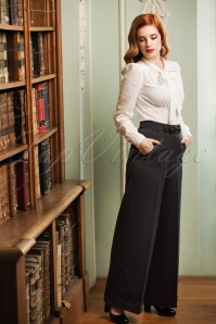 40s Hidden Away Trousers in Black