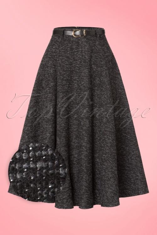 Collectif Clothing Rosie Sparkle Tweed Swing Skirt 18906 20160602 0005wv