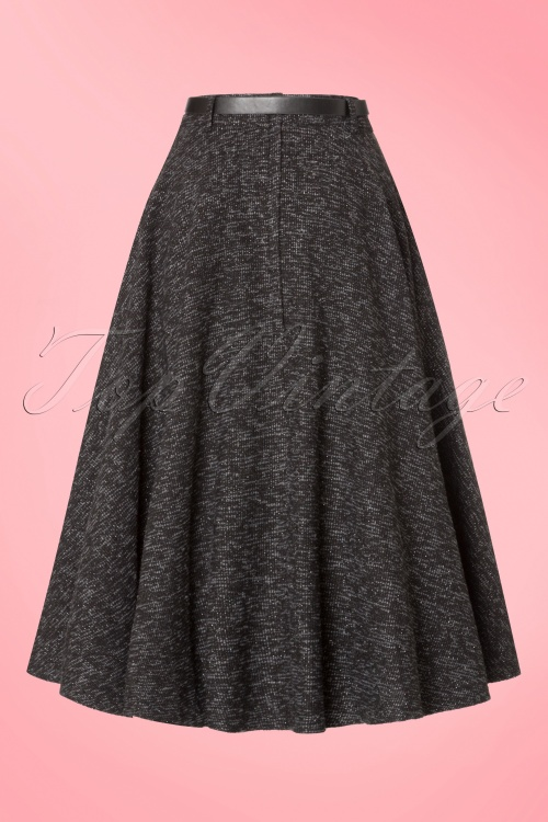 e1ad547225c86f Collectif Clothing Rosie Sparkle Tweed Swing Skirt 18906 20160602 0001w
