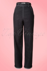 Collecitf Clothing  Siobhan High Waist Jeans in Black 131 10 14348 20150226 0009V