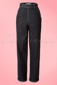 50s Siobhan High Waist Jeans in Black