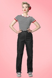 Collecitf Clothing  Siobhan High Waist Jeans in Black 131 10 14348 1