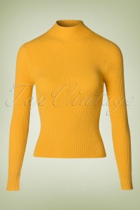 50s Lets Tango Polo Neck in Mustard