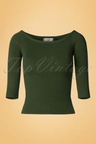 50s Wickedly Wonderful Top in Olive