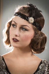 ZaZoo 20s Her Ladyships Feather Headband