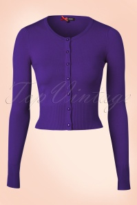 Bunny 50s Paloma Cardigan in Purple