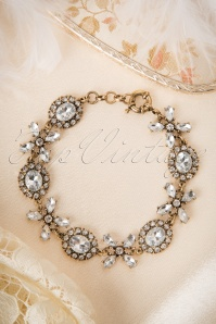 30s Bling It Up Bracelet in Antique Gold