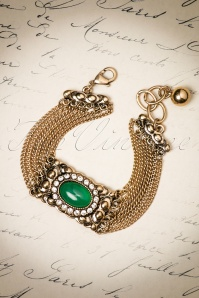 20s Laverne Nouveau Bracelet in Antique Gold