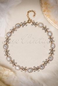 Bling It Up Necklace Années 1930 en Doré vieilli