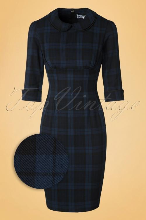 Bunny Hamilton Pencil Dress in Navy Blue 100 39 19551 20161125 0003wv