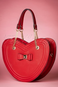 La parisienne Heartshaped Bag in red 212 20 20600 11282016 005W