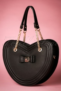 La parisienne Heartshaped Bag in black 212 10 20601 11282016 008w
