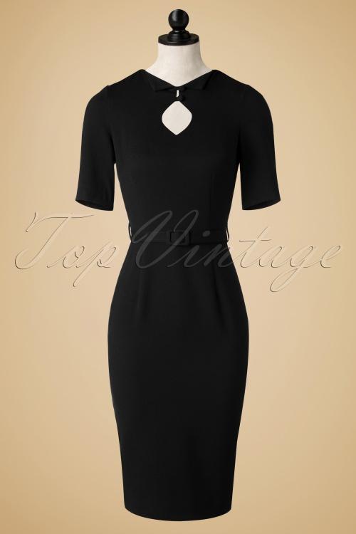 Aida Zack Sophia Pencil Dress in Black  100 10 18675 20161129 0011wd