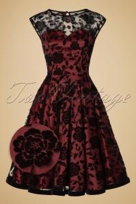 Collectif Clothing Faye Brocade Velvet Rose Dress 18967 20160602 0014wv