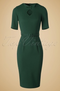 50s Sophia Pencil Dress in Green