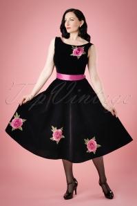 WCollectif Clothing Margaret Velvet Swing Dress 18965 20160601 model02