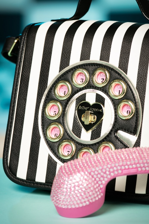 Bag In Kitsch Me Black White Limited And ~ Edition 60s Call Telephone 2 srCQdht