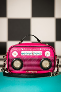 Limited Edition ~ 60s Turn On The Music Radio Bag in Pink