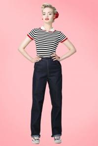 Siobhan Wide Leg Jeans BlueV